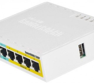 Mikrotik 750UP Trunk+Access Hybrid/Routed R.O. 6.41 Esempio1